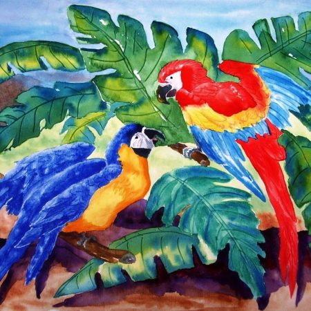 TATUM_DAN_TATUM-MIXED MACAWS_WATER COLOR